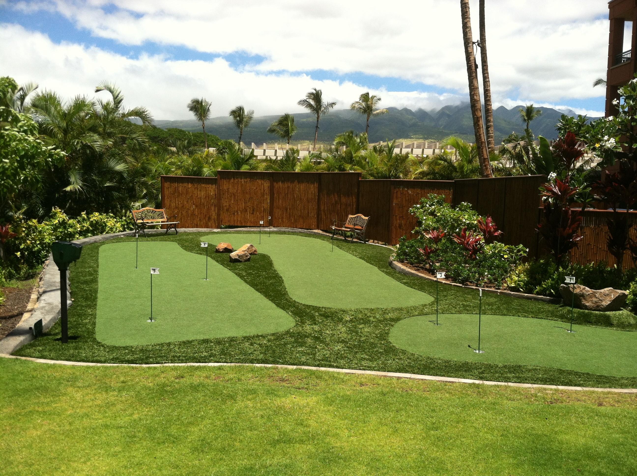 hawaii putting greens maui artificial golf grass