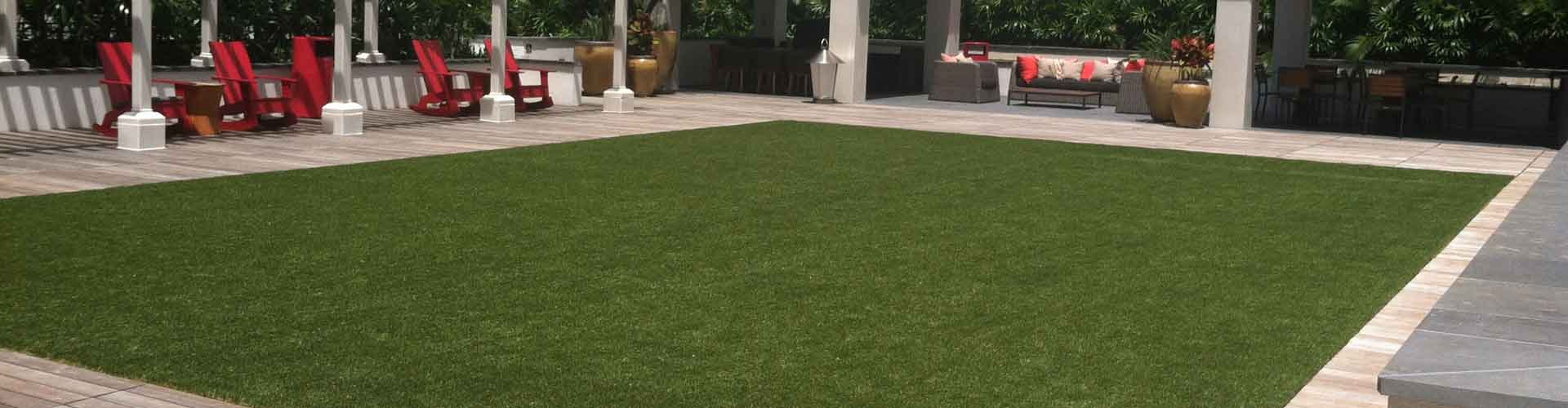 Artificial grass installation at Waihonua at Kewalo