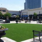 Starbucks artificial grass installation for outdoor patio in Hawaii