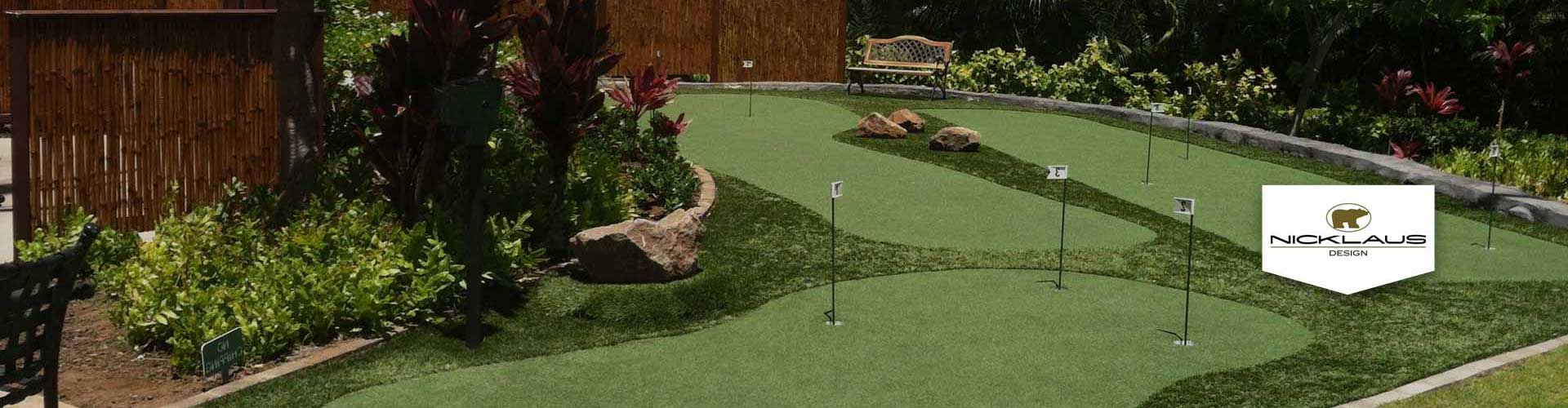 Nicklaus putting greens design from Southwest Greens of Hawaii