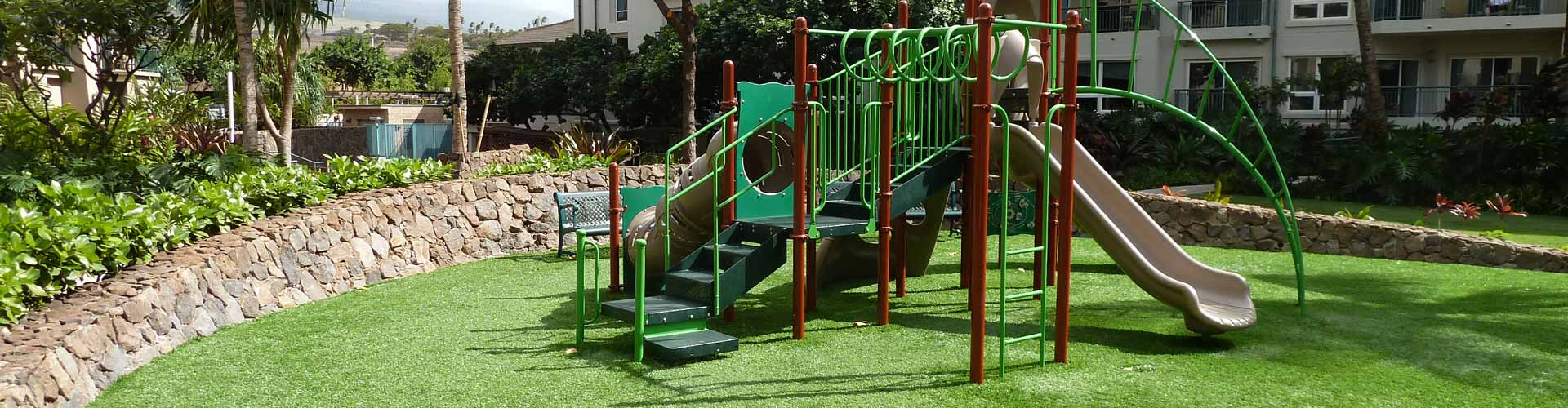 Synthetic turf playground grass by Southwest Greens of Hawaii