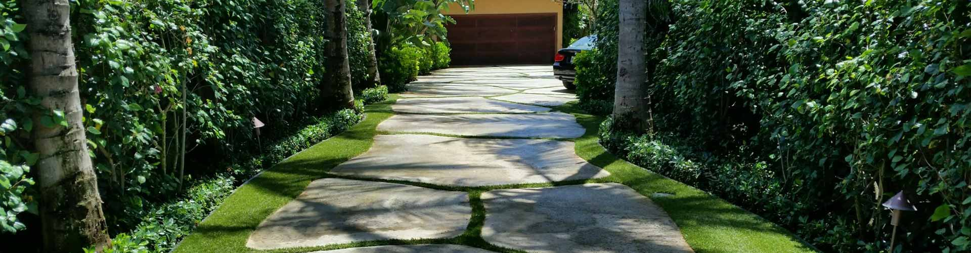Residential driveway grass installation in Hawaii