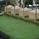 Artificial grass installation at a Hawaiian resort